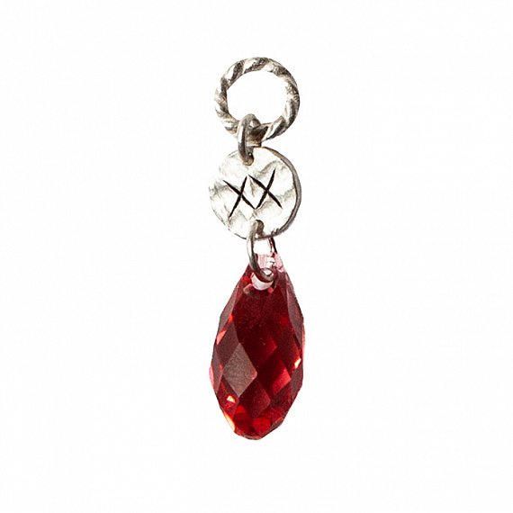 Relic Crystal birthstone july pendant