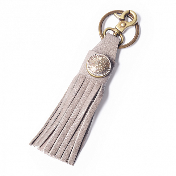 Key holder fringed grey
