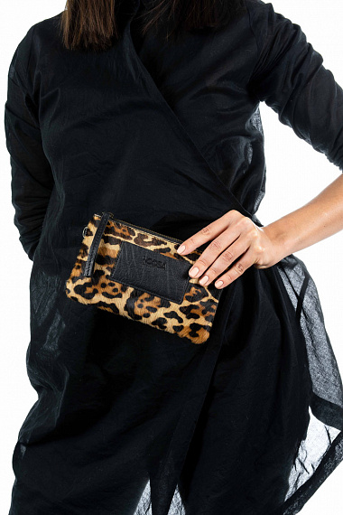 Cowhide Leopard Mini Bag