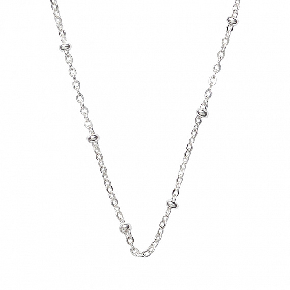 Ball curb chain necklace silver